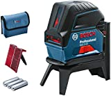 Bosch Professional Kreuzlinienlaser GCL 2-15 (3x AA Batterien, Laserzieltafel, Schutztasche, Einlage für L-BOXX, Arbeitsbereich: 15m, in Karton)