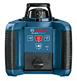 Bosch Professional 0601061600 Bosch GRLHV250R Rotierende Laser Level Plus Fernbedienung-0601061600, 15 V, Blau