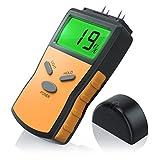 CSL - Feuchtigkeits Detector Feuchtigkeitsmessgerät Feuchtigkeitsmesser für Holz - inkl. Display-Hintergrundbeleuchtung