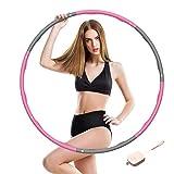SOCLL Hula Hoop Reifen Erwachsene,6-8 Abnehmbare Abschnitte Geeignet für Erwachsene/Kinder, Hoola Hoop Fitness Die Zur Gewichtsreduktion, Hula Hoop Reifen für Fitness/Bauchformung/Zuhause/BüRo,(1.2Kg)