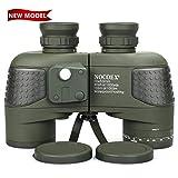 NOCOEX 10X50 Wasserdichtes Beschlagfreies Militär-Marine-Fernglas mit Entfernungsmesser und Kompass für Navigation, Bootfahren, Angeln, Wassersport, Jagd und Mehr