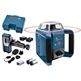 Bosch Professional Rotationslaser GRL 400 H (Ein-Knopf-Bedienfeld, max. Arbeitsbereich: 400 m, in Handwerkerkoffer)