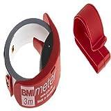 BMI 429341021 Maßband / Taschenbandmaß BMImeter 429 | 3 m langes Taschenmaßband mit rostfreiem Edelstahlband (weiß lackiert) | Länge: 3 Meter, Breite 16 mm, Teilung/Skala: MM, 1 Stück