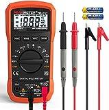 Peakmeter by COEEU, Digital Multimeter, Automatisch True RMS NCV AC/DC Spannung Current Detector Multimeter mit LCD-Anzeige und Hintergrundlicht Widerstand, Frequenz, Durchgang, Kapazität, Diode