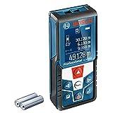 Bosch Professional Laser Entfernungsmesser GLM 500 (Arbeitsbereich: 0,05–50 m, Neigungswinkel: 0–360°, Messgenauigkeit: +/- 1,5 mm, 2 Batterien, AAA, in Kartonschachtel)