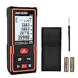 Laser Entfernungsmesser, Meterk Distanzmessgerät Messbereich: 0,05-40m Genauigkeit:±2 mm mit M/In/Ft Datenspeicherfunktion LCD Display Hintergrundbeleuchtung Elektronische Ebene