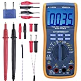 Digital Multimeter, ETEPON True RMS6000 zählt Multimeters Manuelle und Auto-Rang, Misst Spannung, Strom, Widerstand, Kontinuität, Kapazität, Frequenz, Testet Dioden, Transistoren, Temperatur