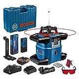Bosch Professional 18V System Rotationslaser GRL 600 CHV (1x Akku 18 V, 4,0 Ah + ladegerät, mit App-Funktion, max. Arbeitsbereich: 600 m, in Handwerkerkoffer)