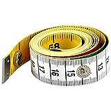AFASOES Maßband 150 cm/60 Inch Flexibles Maßband Körper Schneidermaßband Weiches Massband Schwarz Skala Körpermaßband mit Knopf Maßbänder zum Nähen Körperumfang für Schneider Handwerker Haushalte