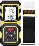 Tilswall Laser Entfernungsmesser, Distanzmesser 40m HD/1 mm mit M/In/Ft, tragbares digitales Lasermessgert mit elektrischer Wasserwaage und automatischer Berechnung, IP54 wasserdicht, ABS Gehuse