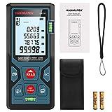 Entfernungsmesser, HANMATEK DT100 100M Digitales Laser Entfernungsmesse mit LCD Hintergrundbeleuchtung M/In/Ft mit Mehreren Messmodi wie Pythagoras/Abstand/Fläche/Volumen Messungen,IP54