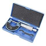 Wisamic Bügelmessschraube Mikrometerschraube Mikrometer Messschraube Werkzeug: 0-25 mm Auflösung 0.01mm Metrischer Außen Bremssattel